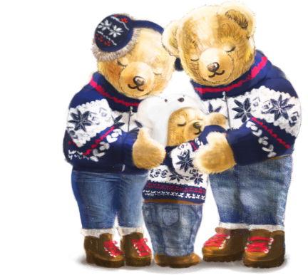 Animation of Polo Bear wrapping gifts